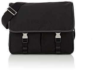 Prada Men's Buckle-Close Messenger Bag