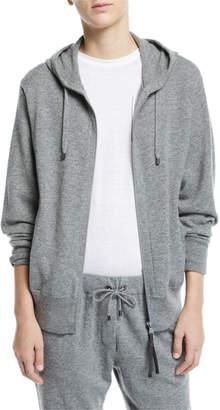 Brunello Cucinelli Cashmere Zip-Front Hoodie