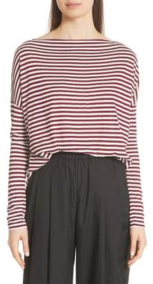 Vince Stripe Drop Shoulder Top