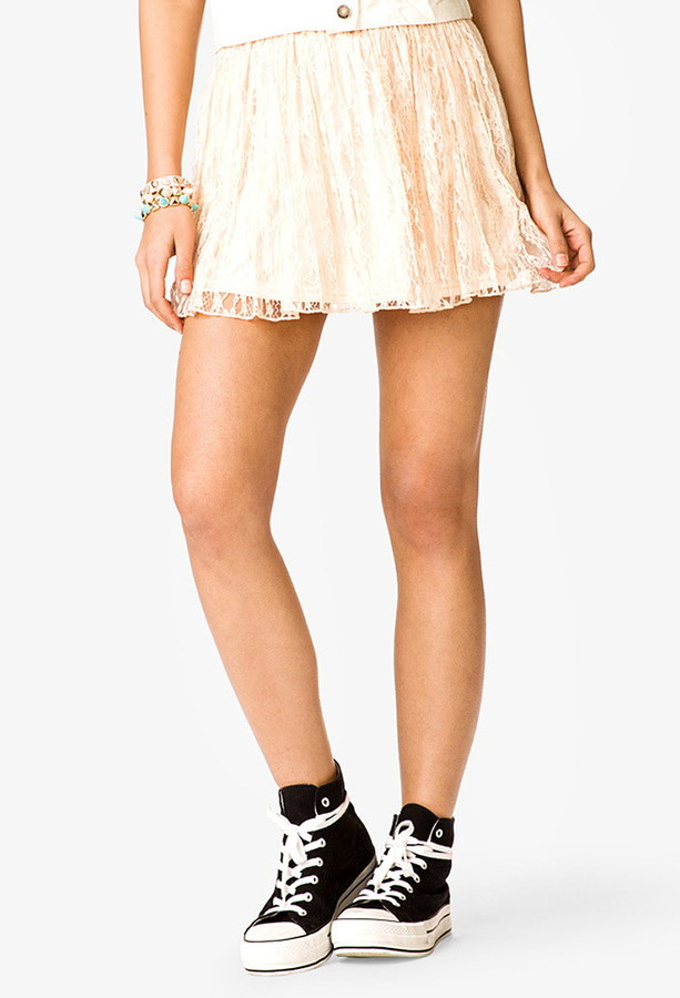 Forever 21 Beaded Lace Skirt