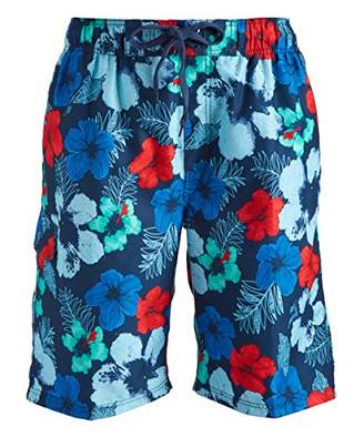 Kanu Surf Men's Hangout Floral Quick Dry Beach Board Shorts Swim Trunk