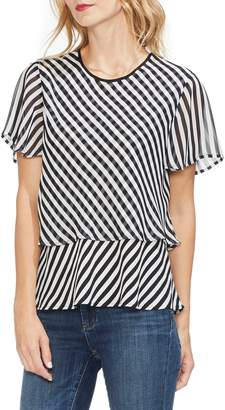 Vince Camuto Stripe Layered Top