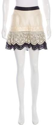 Skaist-Taylor Eyelet Mini Skirt w/ Tags