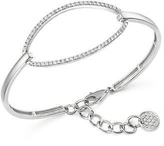 KC Designs Diamond Oval Bangle Bracelet in 14K White Gold