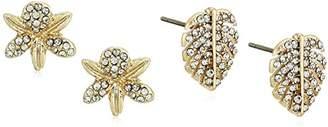 lonna & lilly Worn Gold/ Mismatch Stud Earrings