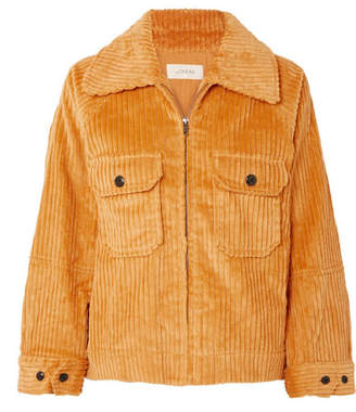 The Great The Boxy Cotton-corduroy Jacket - Yellow
