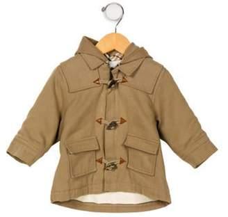 Burberry Boys' Hooded Wool- Blend Coat tan Boys' Hooded Wool- Blend Coat