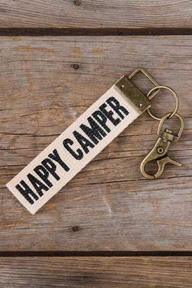 Camper Natural Life Happy Keychain