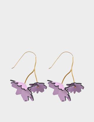 Marni Leather Flowers earrings