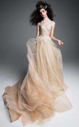 Vera Wang Marthe A-Line Gown With Cap Sleeve