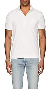 Massimo Alba Men's Cotton French Terry Polo Shirt-White