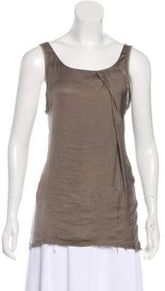 Helmut Lang Raw-Edge Sleeveless Top