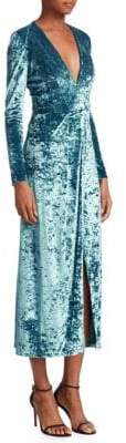 Galvan Cloud Velvet Midi Dress