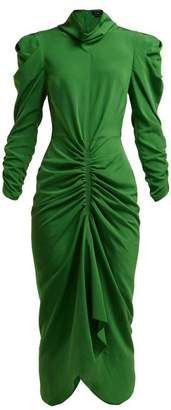 Isabel Marant - Tizy Ruched Crepe Dress - Womens - Green