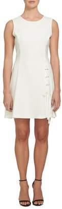 1 STATE 1.State Lace-Up A-Line Dress