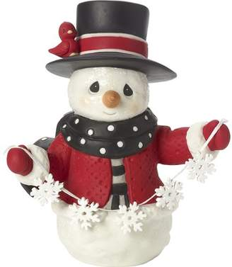 Precious Moments May All Your Christmases Be White Eighth in Annual Snowman Series Bisque Porcelain Figurine