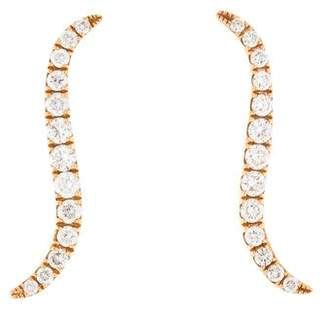 Anita Ko 18K Diamond Wave Ear Climbers