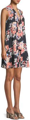 Cynthia Steffe Cece By Garden Blooms Tie-Neck Sleeveless A-line Dress