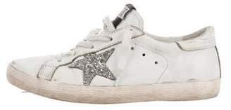 Golden Goose Girls' Distressed Superstar Sneakers