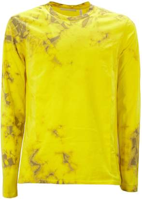 Helmut Lang Yellow And Brown Cotton T-shirt