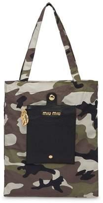 Miu Miu camouflage faille keychain bag