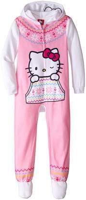 Hello Kitty Big Girls' Hooded Fleece Blanket Sleeper