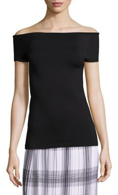 Helmut Lang Off-The-Shoulder Top $125 thestylecure.com