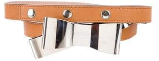 Sonia Rykiel Sonia by Bow-Accented Leather Belt
