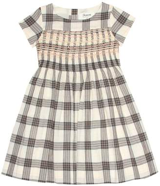 Bonpoint Duchesse checked cotton dress