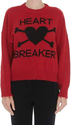 RED Valentino Logo Heart Breaker Sweater