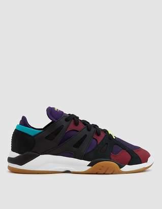 adidas Dimension Lo Sneaker in Core Black/Deep Purple