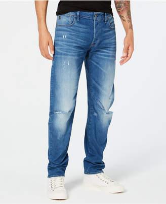 G Star Men Arc 3D Slim-Fit Stretch Destroyed Jeans