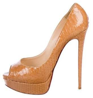 Christian Louboutin Python High Heel Sandals