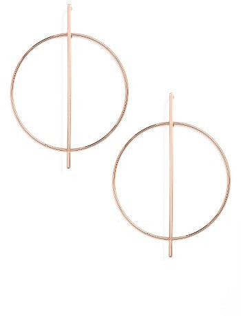Women's Nordstrom Open Circle Frontal Hoop Earrings