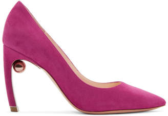 Nicholas Kirkwood Pink Suede Mira Pearl Heels