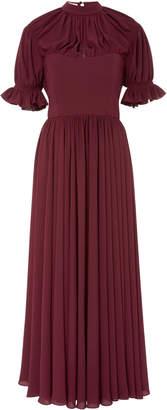 Emilia Wickstead Philly Pleated Crepe de Chine Dress