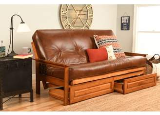 Albany Futon with storage in Barbados Finish, Multiple Colors