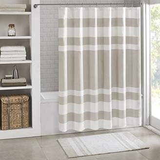 Madison Park MP70-1483 Spa Waffle Shower Curtain 72x72 Taupe