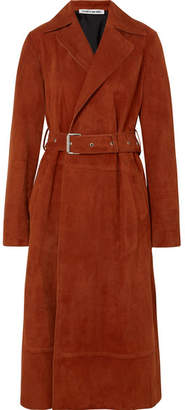 Elizabeth and James Jules Belted Suede Coat - Brown