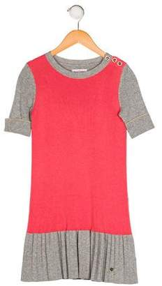 Juicy Couture Girls' Pleated Rib Knit Dress