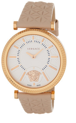 Versace Women's Helix Leather Strap Watch $1,495 thestylecure.com