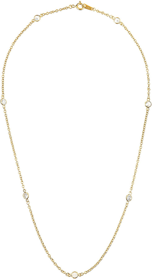 FANTASIA Cubic Zirconia Station Necklace
