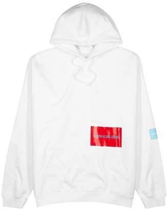 Calvin Klein Jeans Logo-print Hooded Cotton-blend Sweatshirt