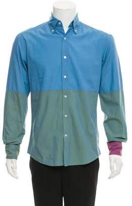 Michael Bastian Contrast Button-Up Shirt