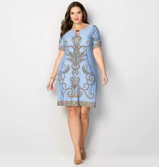 Avenue Scroll Sheath Dress