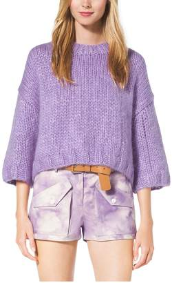 Michael Kors Hand-Knit Mohair and Silk Pullover