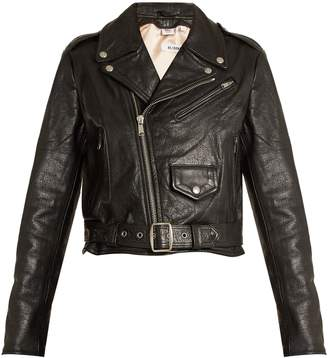 RE/DONE ORIGINALS Reconstructed leather vintage cropped jacket