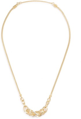 John Hardy 'Asli Classic Chain' diamond 18k yellow gold mini pendant necklace