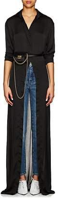Juan Carlos Obando Women's Washed Satin Long Shirtdress