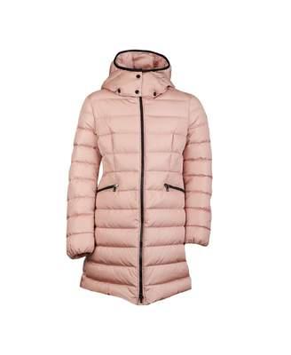 Moncler Enfant Charpal Long Hooded Jacket Colour: PINK, Size: Age 4